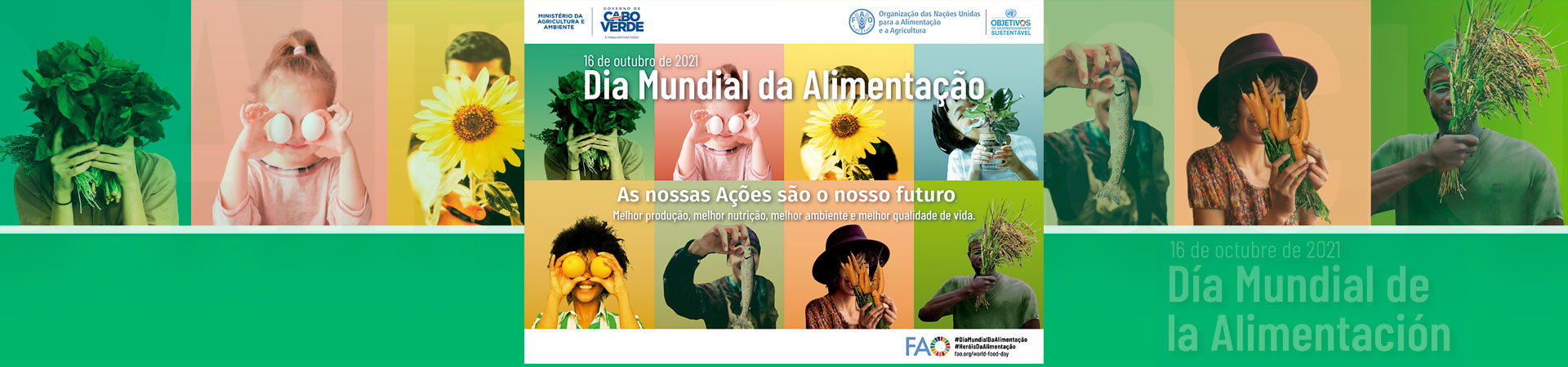 Mensagem alusiva ao Dia Mundial de Alimentação